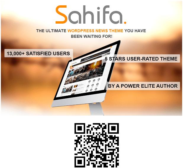 Hình 3.1: Giao diện cho website blog Sahifa