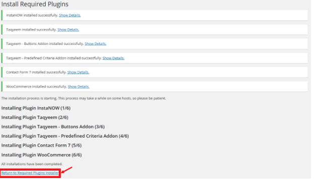 Hình 3.37: Ảnh bật những plugin kèm theo giao diện Sahifa website blog - 3
